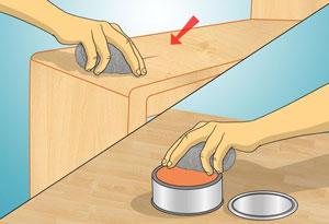 Xóa vết xước bề mặt đồ nội thất gỗ