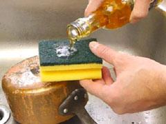 Cách làm sạch nồi inox bị cháy