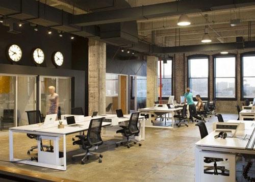 không gian mở văn phòng đẹp